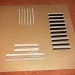 Fummelbrett aus Holzplatte und Holzleisten!