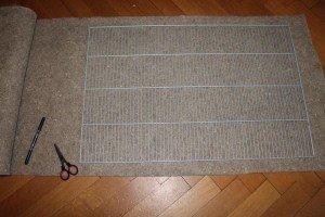 Hanfmatte für Gitterboden