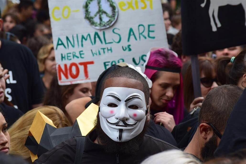 Tierschutz Protestaktion