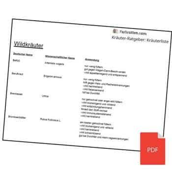 Kräuterliste PDF