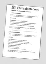 Einsteiger Checkliste